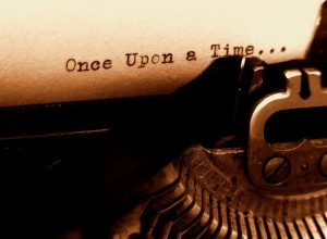 First draft: old typewriter